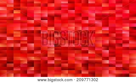 Red geometrical mosaic rectangle background - modern vector design from gradient rectangles