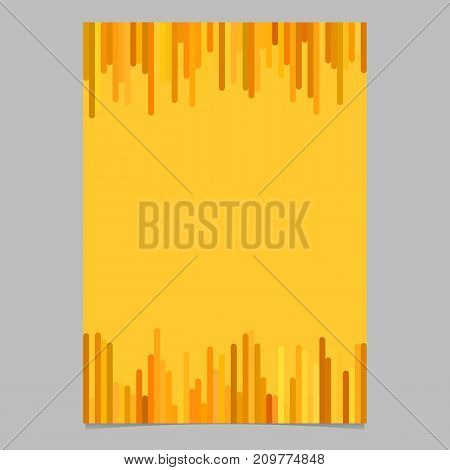 Blank brochure template graphic from vertical stripes in orange tones - vector page design