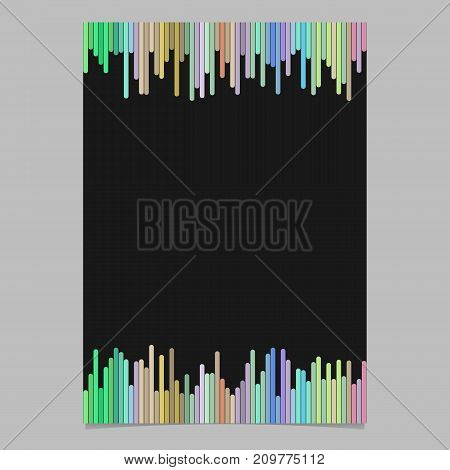 Colored brochure template - blank vector stationery, document background illustration with rounded vertical stripes