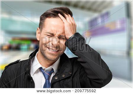 Man stress stressed money focus business financial