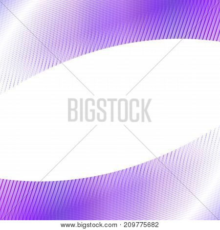 Dynamic abstract geometrical grid background - purple  graphic design from curved angular stripes on white background