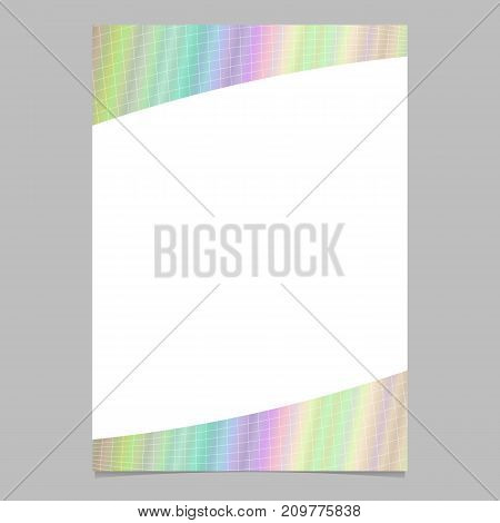 Abstract colorful grid brochure template background design - vector flyer graphic on white background