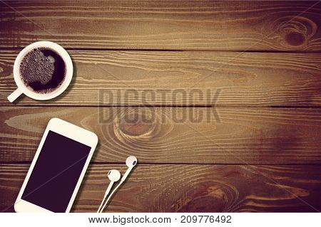 Cup coffee phone smart smartphone table color