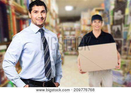 Business portrait businessman tablet pc elegance smiling adult