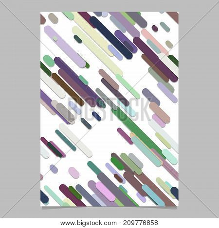 Geometrical seamless chaotic rounded diagonal stripe background pattern brochure cover template - vector flyer background illustration