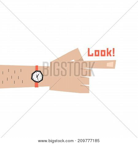 simple index finger of man. concept of indicating, ahead, route, choose, out there, human selection, orientation, behold. flat style trend logo graphic design vector illustration on white background