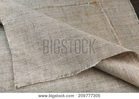 Canvas Fabric With Folds In Dark Tones
