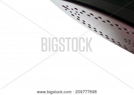 Isolated sole of iron on white background