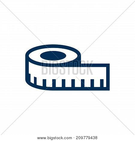 Isolated Measuring Tape Icon Symbol On Clean Background
