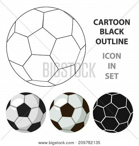 Football ball icon in cartoon style isolated on white background. England country symbol vector illustration.