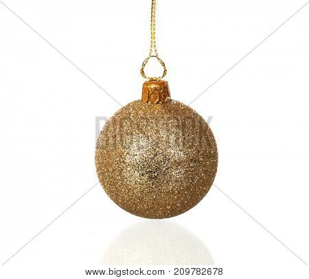 Christmas ball to decorate the house in this Holiday isolated on a white background