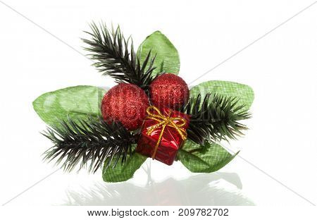 Typical Christmas decoration isolated on a white background