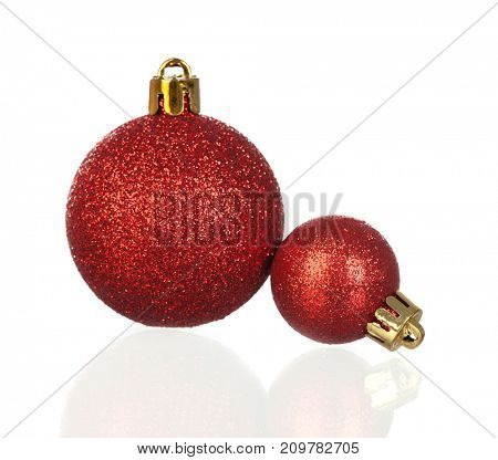 Christmas balls to decorate the house in this Holiday isolated on a white background