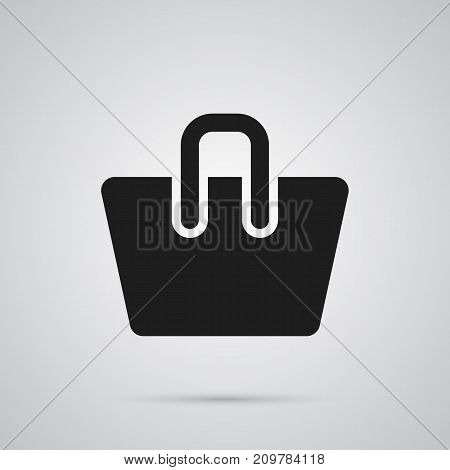 Vector Handbag Element In Trendy Style.  Isolated Bag Icon Symbol On Clean Background.