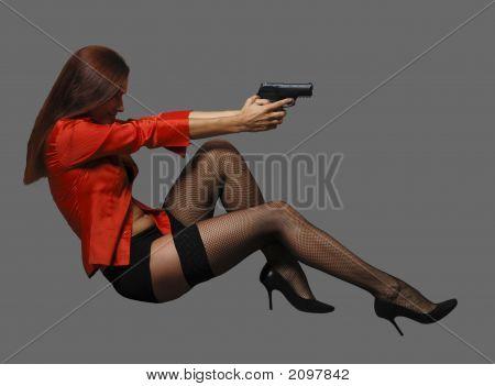 Women With Big Black Gun