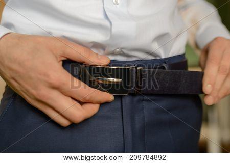 Male Belt Brown Color