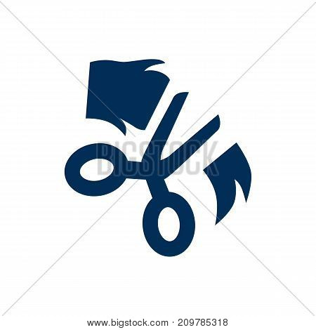 Vector Scissor Element In Trendy Style.  Isolated Grooming Icon Symbol On Clean Background.