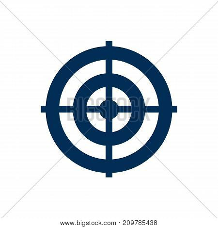 Vector Dartboard Element In Trendy Style.  Isolated Target Icon Symbol On Clean Background.