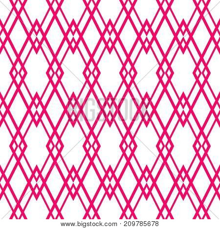 Pink and white tile vector pattern for seamless decoration background wallpaper