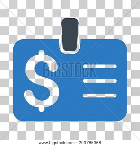 Dollar Badge icon. Vector illustration style is flat iconic bicolor symbol, smooth blue colors, transparent background. Designed for web and software interfaces.