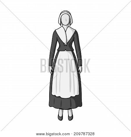 Girl, single icon in monochrome style.Girl, vector symbol stock illustration .