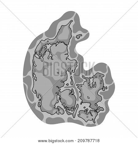Country, single icon in monochrome style.Country, vector symbol stock illustration .