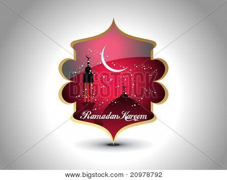 grey background with isolated icon for ramazan kareem