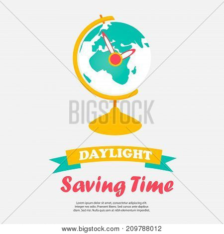 Background for Daylight Saving Time with globe