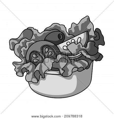 Bowl, single icon in monochrome style.Bowl, vector symbol stock illustration .