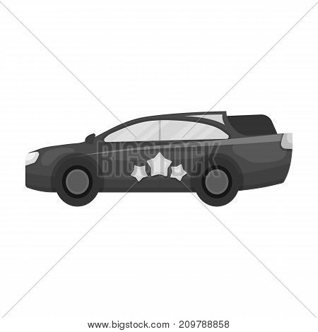 Car, single icon in flat style.Car, vector symbol stock illustration .