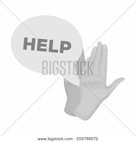 Hands, single icon in monochrome style.Hands, vector symbol stock illustration .