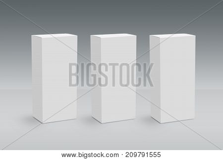 3D White Boxes on Ground Mock Up Template Ready For Your Design