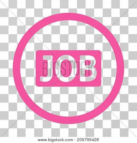 Job Text icon. Vector illustration style is flat iconic symbol, pink color, transparent background. Designed for web and software interfaces.