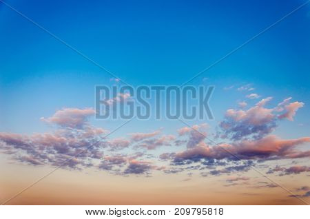 Sky Texture With Clouds