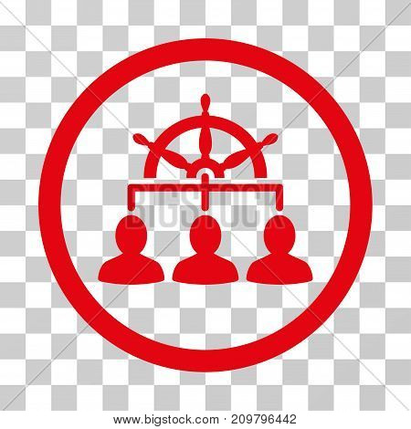 Management Steering Wheel icon. Vector illustration style is flat iconic symbol, red color, transparent background. Designed for web and software interfaces.