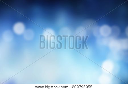 Plain blue background against defocused blurred lights. 3d rendering