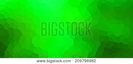 Colourful textured green panorama banner with artistic irregular graduated pattern with layer effect and copy space. 3d rendering