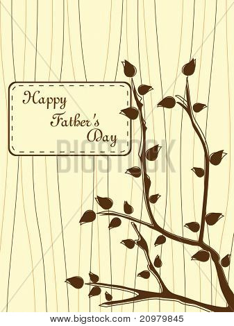 tree branch concept greeting card for father's day