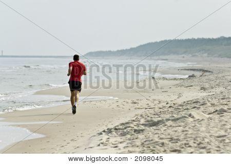 Jogging At Seashore
