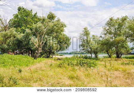 Summer landscape. The view of the river Don in the area of the village Starocherkasskaya of Rostov region