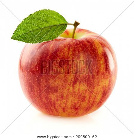 Beauty apple with leaf