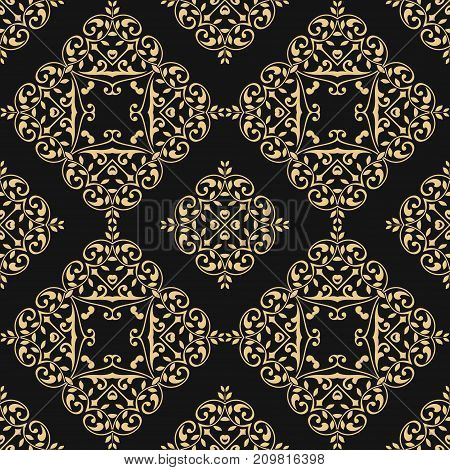 Seamless pattern with floral elements. EPS 10 file.