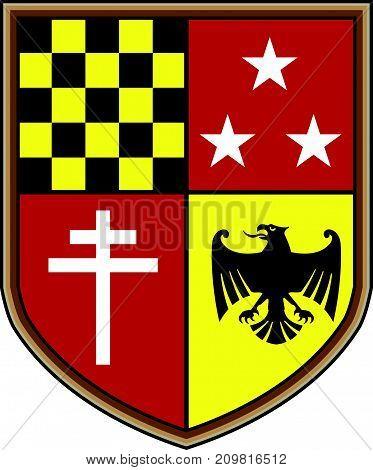Coat of Arms eagle stars cross shield