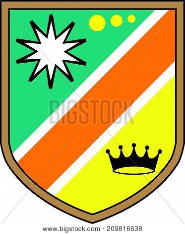 Royal Illustration shield clip-art colorful design eps