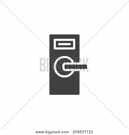 Door knob icon vector, filled flat sign, solid pictogram isolated on white. Symbol, logo illustration.