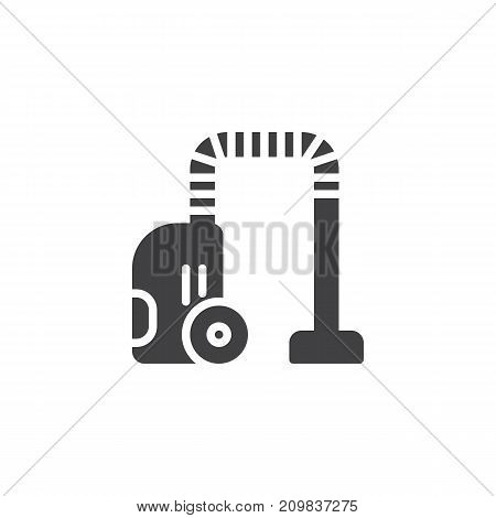 Vacuum leaner icon vector, filled flat sign, solid pictogram isolated on white. Room cleaning service symbol, logo illustration.