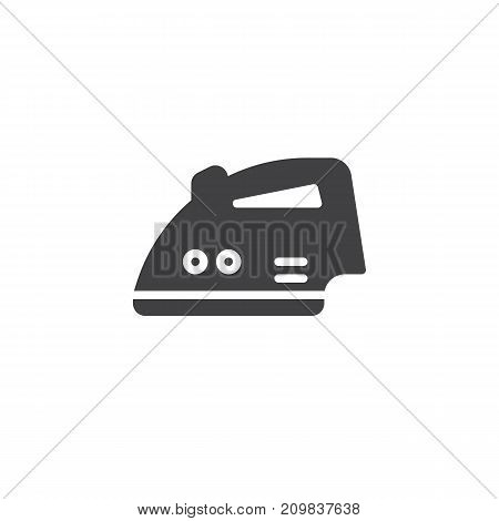 Iron icon vector, filled flat sign, solid pictogram isolated on white. Symbol, logo illustration.