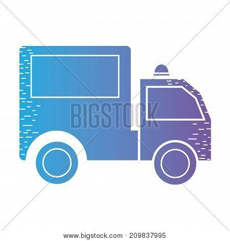 line trunk vehicle transportation to delivery vector illustration