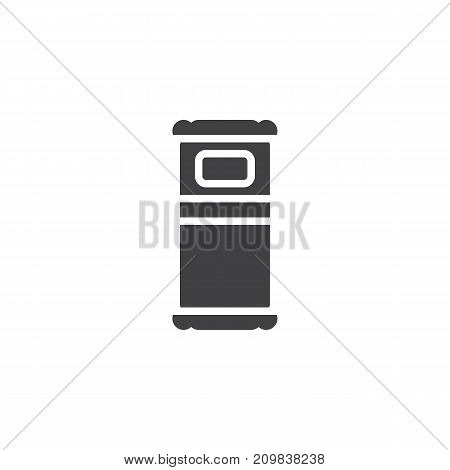 Single bed icon vector, filled flat sign, solid pictogram isolated on white. Symbol, logo illustration.