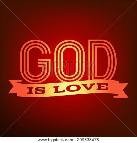 God is love typography poster with red theme